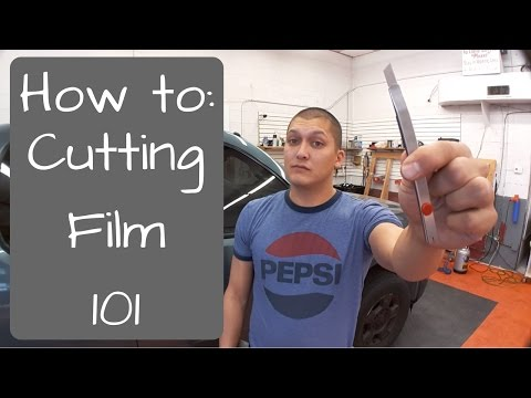Window Tinting: Cutting film 101