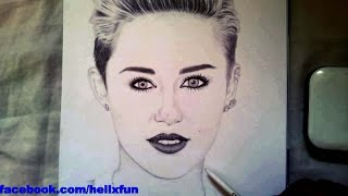 Miley Cyrus Drawing - speed drawing Miley Cyrus