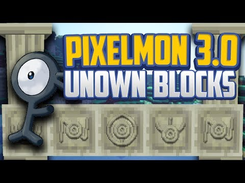 Minecraft Pixelmon 3.0 *Secret* Unown Blocks Showcase