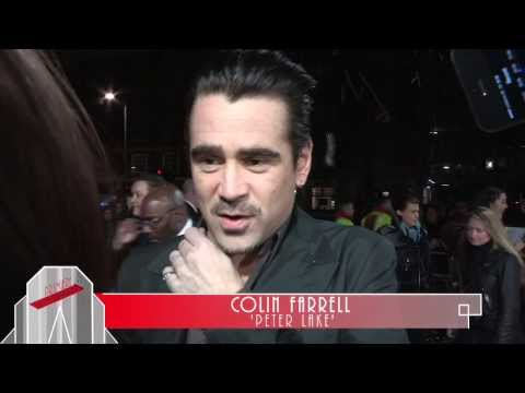 A New York Winter's Tale - Premiere Interviews Colin Farrell, Jessica Brown Findlay, Akiva Goldsman.