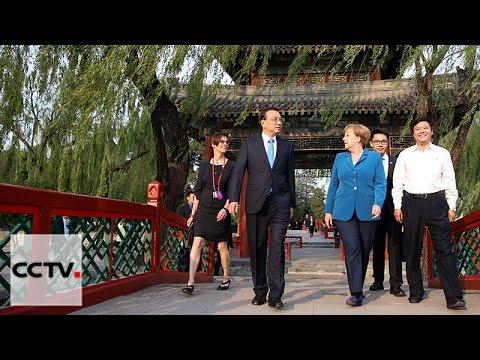 Premier Li Keqiang meets Merkel in Beijing
