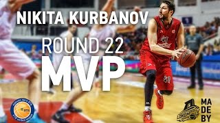 Nikita Kurbanov MVP performance in VTB United League Round 22 2014-2015