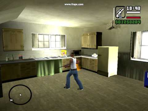 Grand Theft Auto San Andreas Gta Sa  Mysteries Cj's House Nokia Fridge! video