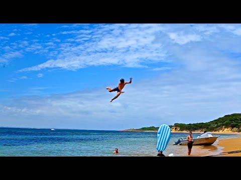 World's Most EPIC Beach Slip N Slide Launch Ramp!
