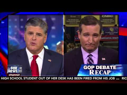 Ted Cruz Discusses the #CNBCGOPDebate with Sean Hannity