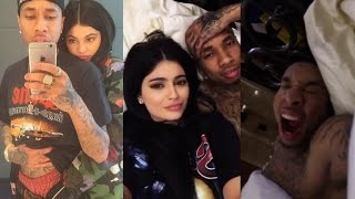 Kylie In bed with Tyga Snapchats | kylizzlemynizzl snaps