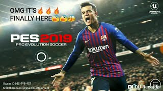 PES 2019 MOBILE VERSION GAMEPLAY - HD(IMPRESSIVE!!)