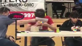 Rubik's Cube Blindfolded World Record: 19.79 mo3 (first ever sub 20)