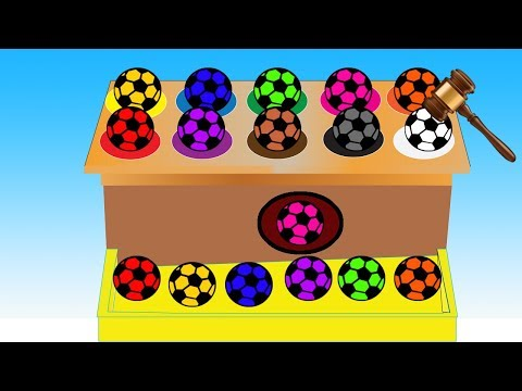 Soccer Balls Colors Video For Children || Learn Colors and Nursery Rhymes Collection For Kids thumbnail