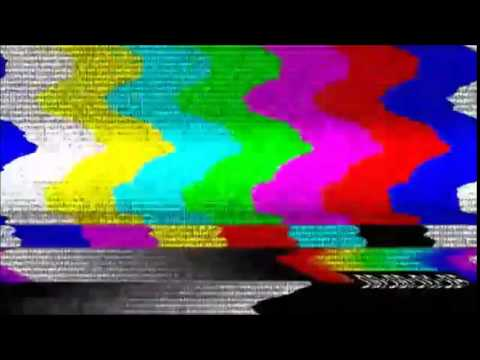 SMPTE color bars with static