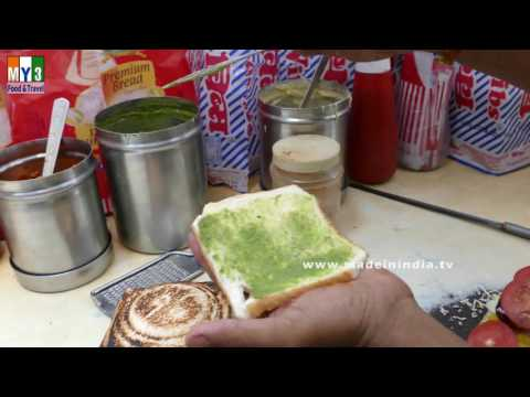 Bombay Veg Masala Sandwich Recipe   How to Make Vegetable Toast   MUMBAI STREET FOODS