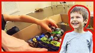 Toy Monster Truck Arena With Cardboard