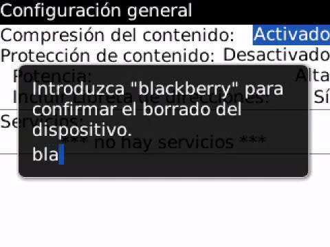 Borrado Total o Restauración de Fábrica del BlackBerry 8520