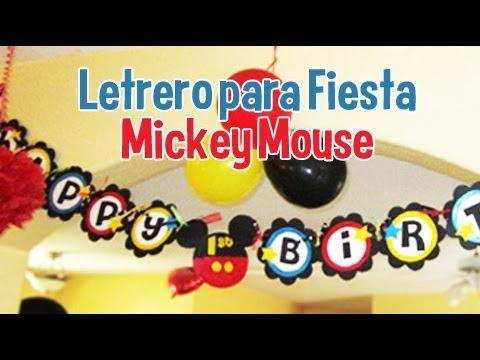 Cómo hacer a Mickey Mouse en goma eva o foami en plano