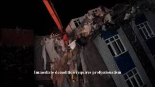 MTKA DEMOLITION - IMMEDIATE DEMOLITOIN OF A SLANTING BUILDING - 16 hours