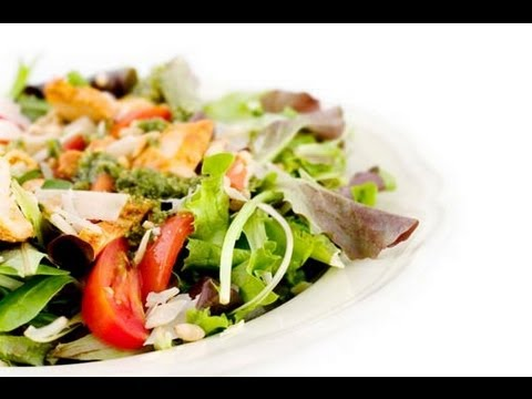 Fresh Garden Salad With Chicken Breast