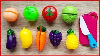 Đồ chơi trẻ em CẮT TRÁI CÂY, RAU CỦ bé học nấu ăn - Cutting fruits & vegetables toys (Chim Xinh)