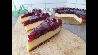 Leichter Kirsch Cheesecake ~ Cherry Cheesecake ♥ P&S Backparadies