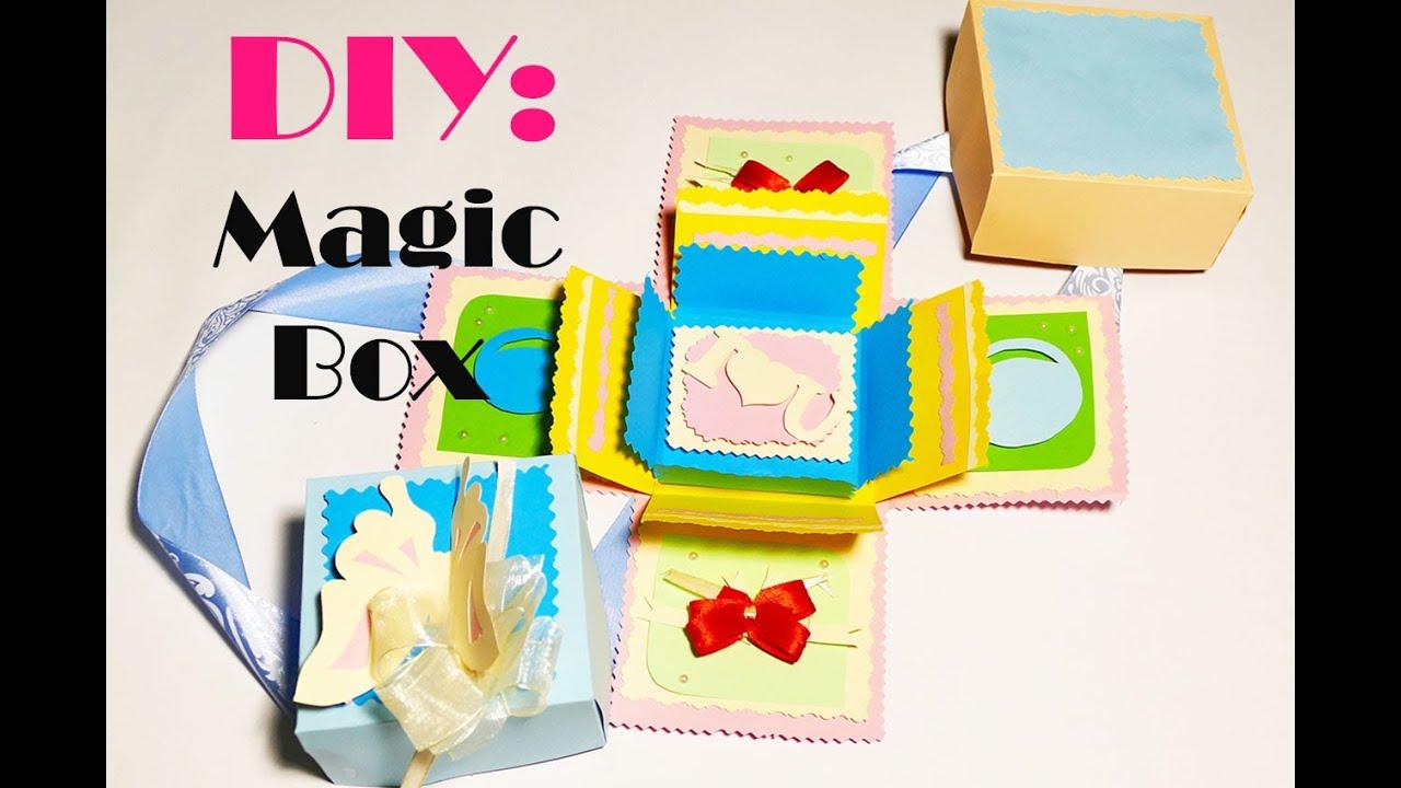 Как сделать подарочную коробку Подарок своими руками 7