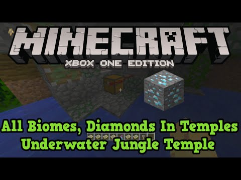 Minecraft Xbox One PS4 Seed: 5 Desert Temples & All Biomes (DIAMONDS)