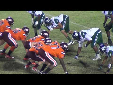 Simeon Khan #55    Mountain View High School Football 2012    5 Oct 12
