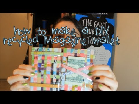 DIY Recycled Magazine Magic Wallet