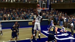 College Hoops 2k8 Duke vs Michigan Gameplay! 2018-19 Updated Rosters!