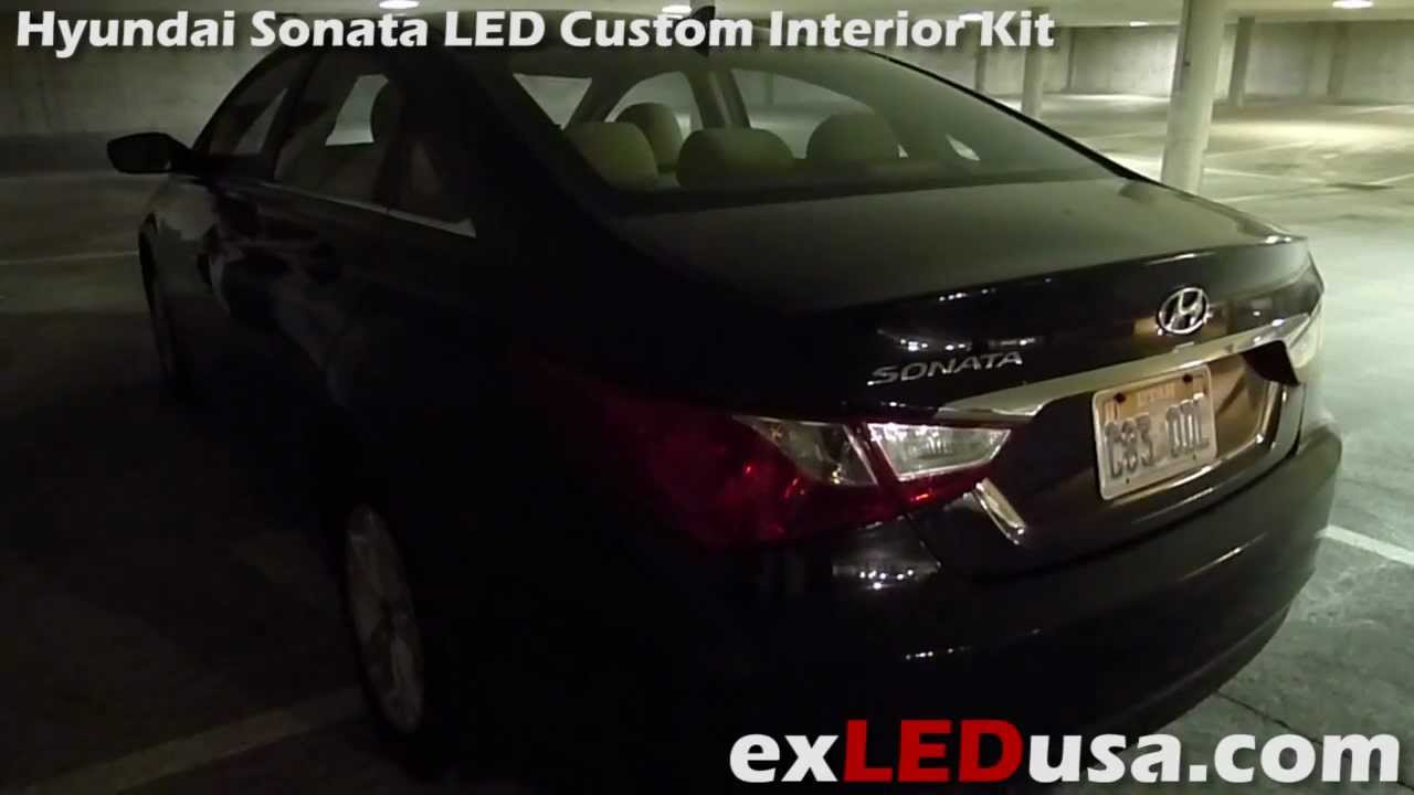 Exled Hyundai Sonata Led Custom Interior Kit Youtube