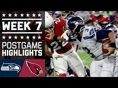 Seahawks Vs Cardinals Nfl Week 7 Game Highlights