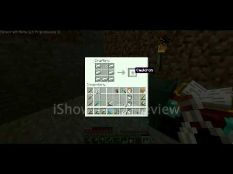 Minecraft 1 9 How To Craft A Cauldron Youtube
