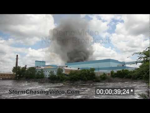 5/28/2012 Sartell, MN Verso Paper Mill Fire Stock Footage