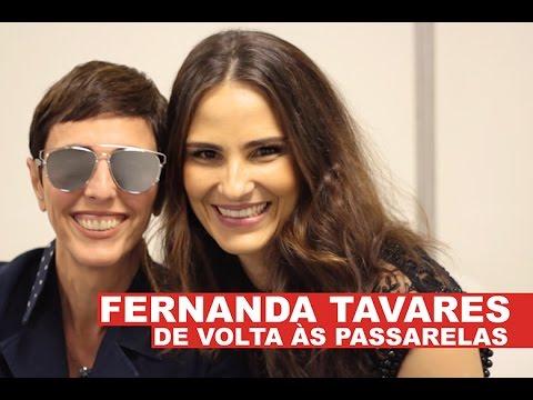 Fernanda Tavares de volta às passarelas