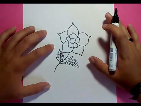 Como dibujar una flor paso a paso 12 how to draw a for Como hacer una alberca paso a paso