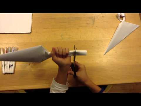 How to make a paper Kunai