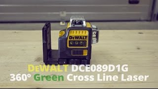 DeWALT DCE089D1G Green Cross Line Laser from Toolstop