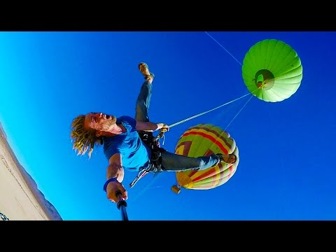 Epic Hot Air Balloon Rope Swing in 4K #incredouble