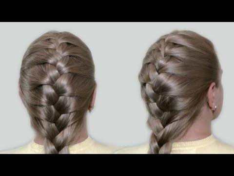 Видео как научиться плести французскую косу