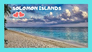 SOLOMON ISLANDS, landing in the beautiful island of Ghizo (Pacific Ocean)
