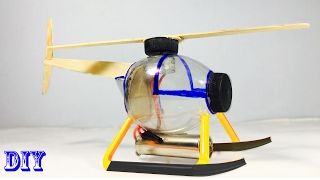 How to make a helicopter by plastic bottle- Electric Helicopter(Easy) - Tutorial