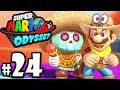 Super Mario Odyssey - Switch Gameplay Walkthrough PART 24: Sand Kingdom Moons - Bowser amiibo Coins
