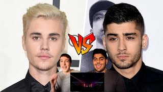 Justin Bieber Vs Zayn Malik Vocal Battle Reaction