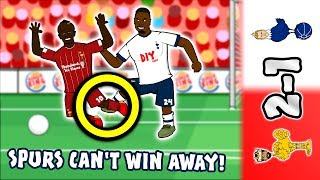 🔴2-1! Spurs Can't Win Away!⚪ (Liverpool vs Tottenham 2019 Parody Goals Highlights Aurier)