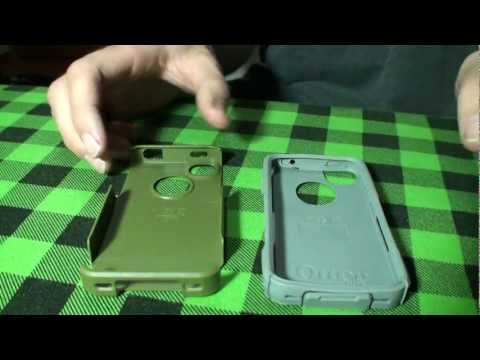 OtterBox Commuter Case iPhone 4S Envy Green Gunmetal Grey Unboxing and Review