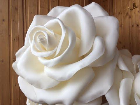Роза и хризантема из изолона своими руками – мастер-класс