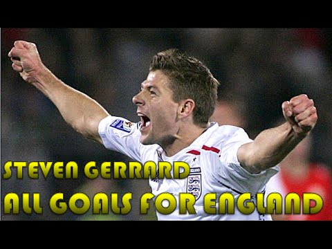All Steven Gerrard Goals for England [HD]