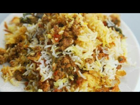 Keema Biryani Recipe - Quick & Simple Mutton Kheema Biryani - Monsoon Special