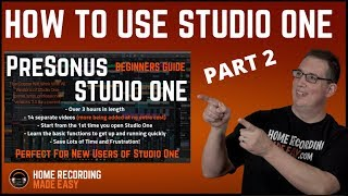 Recording Music - Presonus Studio One 3 - Beginners Guide #2 - The Start Page