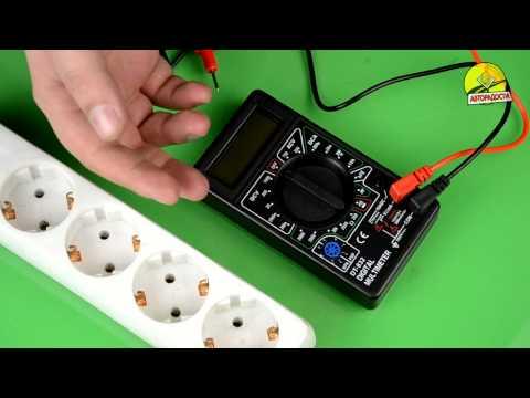 Видео как проверить питание мультиметром