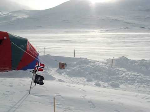 Storm at Base Camp 1 - BSES Extreme Arctic 2008