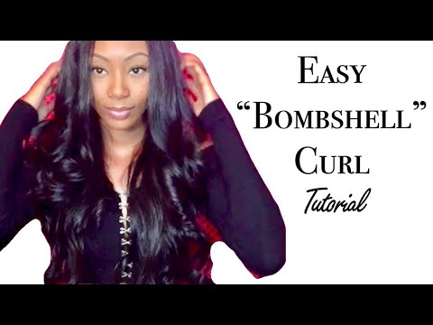 How to curl your hair - Bombshell Curls  ❤️ Affordable Amazon Hair 1 month Review - LONG YAO HAIR ‼️